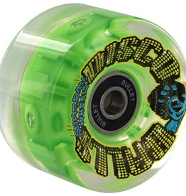 Santa Cruz Skateboards Santa Cruz Slime Balls Disco Balls Wheels w/LED and Bearings Green 60mm 78a (set of 4)