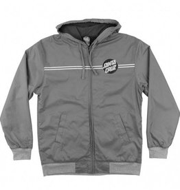 Santa Cruz Skateboards Santa Cruz YOUTH Classic Dot Hooded Wind Breaker Jacket - Grey