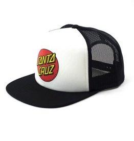 Santa Cruz Skateboards Santa Cruz Classic Dot Youth Mesh Trucker Hat - Wht/Blk
