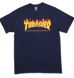 Thrasher Thrasher Flame Logo T-Shirt - Navy