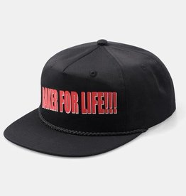 Baker Baker- For Life Snapback Hat - Black