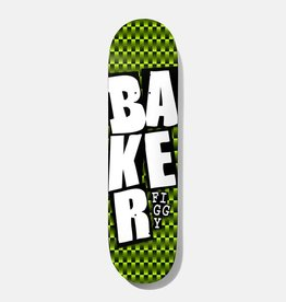 """Baker Baker JF Stacked GRN Checkers Deck 7.75"""" x 31.25"""""""