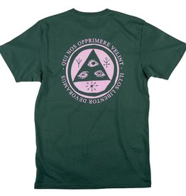Welcome Skateboards Welcome Skateboards Latin Talisman T-Shirt - Forest/Pink