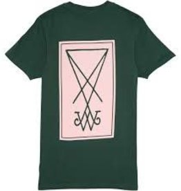 Welcome Skateboards Welcome Symbol T-Shirt - Forest/Pink
