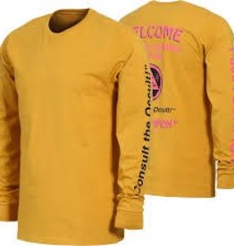 Welcome Skateboards Welcome Hotline Long Sleeve T-Shirt - Mustard
