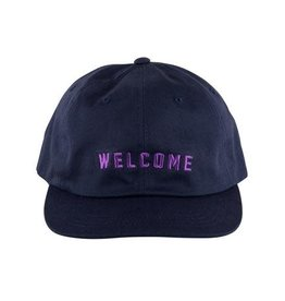Welcome Skateboards Welcome Academic Unstructured Snapback Hat - Navy/Lavender