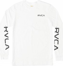 RVCA RVCA Glitch L/S T-Shirt - White