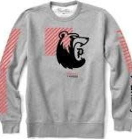Primitive Skateboards Primitive Bear Crew Men's Fleece  - Gray Heather