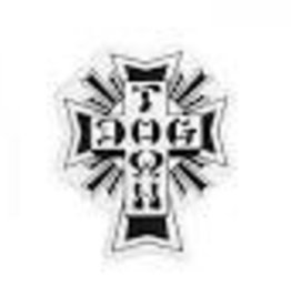 "Dogtown Dogtown Cross Logo 4"" Sticker - Black"