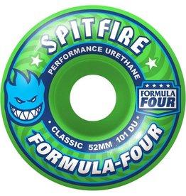Spitfire Wheels Spitfire F4 Gangreen Classic Wheels 54mm 101a (Set of 4)