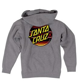 Santa Cruz Skateboards Santa Cruz Sunset Zip Hoodie - Heather Grey