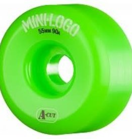 Mini-Logo Mini Logo Skateboards A-Cut Wheels Green 55mm 90a (Set of 4)