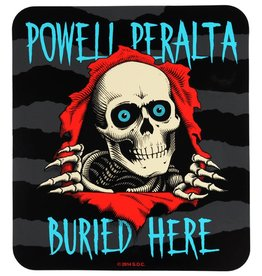 "Powell Peralta Powell Peralta Buried Here 8""x9"" Sticker"