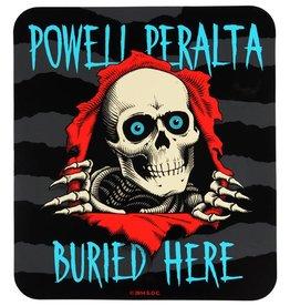 "Powell Peralta Powell Peralta Buried Here Sticker 8""x9"""