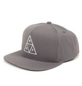 Huf Huf Triple Triangle Snapback Hat - Charcoal