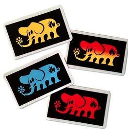 Black Label Black Label Sticker - Rectangular Elephant - colors vary