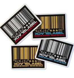 Black Label Black Label Sticker - Barcode - colors vary