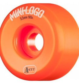 Mini-Logo Mini Logo Skateboards A-cut Wheels Orange 53mm 90a (Set of 4)