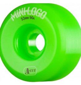 Mini-Logo Mini Logo Skateboards A-Cut Wheels Green 53mm 90a (Set of 4)