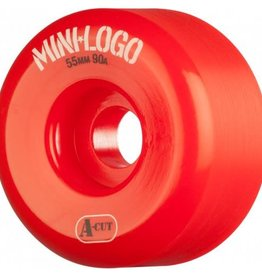 Mini-Logo Mini Logo Skateboards A-cut Wheels Red 53mm 90a (Set of 4)