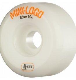 Mini-Logo Mini Logo Skateboards A-cut Wheels White 53mm 90a (Set of 4)