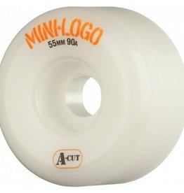 Mini-Logo Mini Logo Skateboards A-cut Wheels White 55mm 90a (Set of 4)