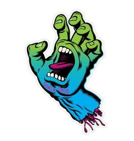 Santa Cruz Skateboards Santa Cruz Neon Hand mylar 3in Sticker