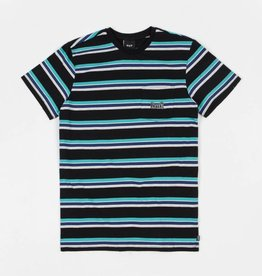 Huf Huf Worldwide 1993 Stripe S/S Knit Shirt - Black