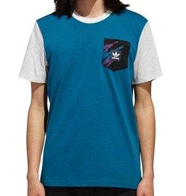 Adidas Adidas TNNS Pocket T-Shirt- Real Teal