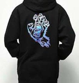 Santa Cruz Skateboards Santa Cruz Throwdown Hand Pullover Youth Sweatshirt - Black