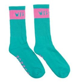 Welcome Skateboards Welcome Summon Socks - Teal/Pink