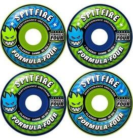 Spitfire Wheels Spitfire F4 99 Classic Royal Blue/Lime Green Mashup Wheels 52mm (Set of 4)