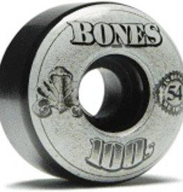 Bones Bones 100's O.G. V4 Wheels 54mm Black (set of 4)
