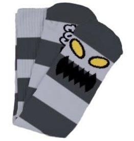 Toy Machine Toy Machine Monster Big Stripe GreY Crew Socks - 1 Pair One size