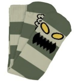 Toy Machine Toy Machine Monster Big Stripe Green Crew Socks - 1 Pair One size