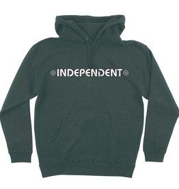 Independent Independent Bar/Cross Hooded P/O Sweatshirt - Alpine Green