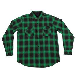 Creature Creature Damned Flannel Long Sleeve Shirt - Green/Black