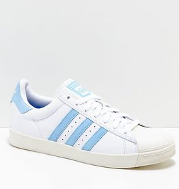 Adidas Adidas Superstar Vulc X Krooked Skate Shoes  - White/Light Blue