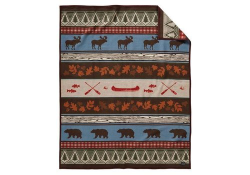 Pendleton USA Pine Lodge Robe - Brown