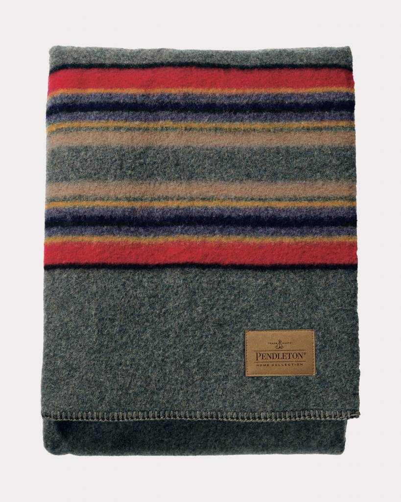 Pendleton USA Yakima Camp Bec Blanket Green Heather