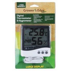 Growers Edge Grower's Edge Large Display Thermometer / Hygrometer (20/Cs)
