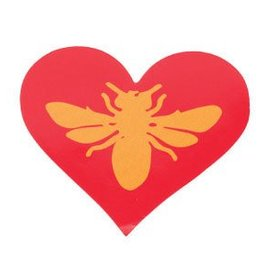Bee Thinking Bee Heart Sticker