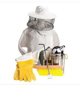 Bee Thinking Beekeeping Starter Kit (protection, Gloves, Bee Brush, Ultimate Tool, Smoker and Mediun Hat Veil Combo)