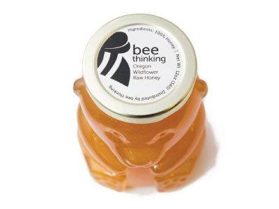 Bee Thinking Bee Thinking Raw Wild flower Honey Bear