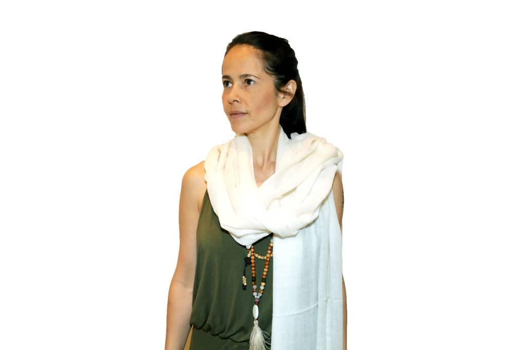 Paschmina Shawl White