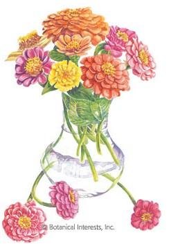Botanical Interests Zinnia Cut and Come Again