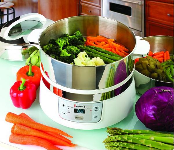 Euro Cuisine Stainless Steel Electric Food Steamer