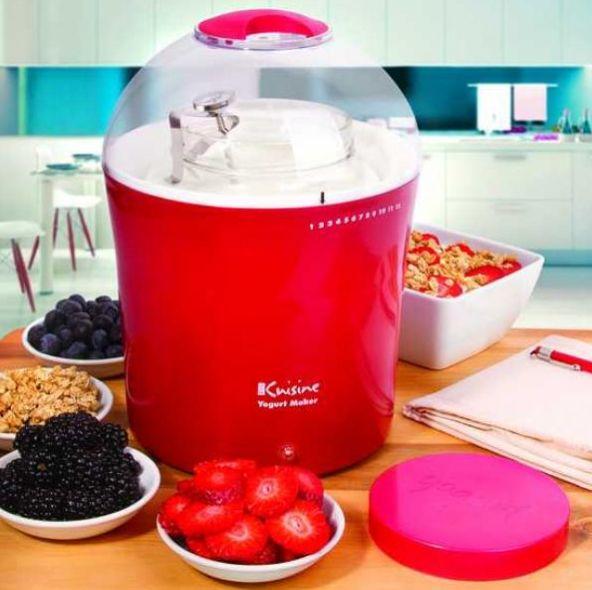 Euro Cuisine Yogurt and Greek Yogurt Maker (Red)