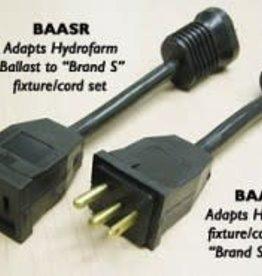 Hydrofarm Receptacle Adapter Brand S, BAASR