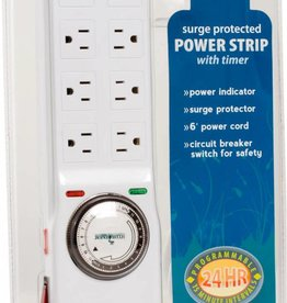 Hydrofarm Hydrofarm Surge Protector with 8 outlets & Timer